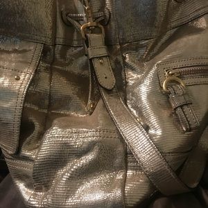 Juicy Couture Bags - Juicy Couture Snakeskin Leather Drawstring Handbag